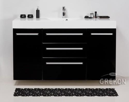 Młodzieńczy Szafka łazienkowa czarna 140cm FOKUS z umywalką | GREKON.pl GY04