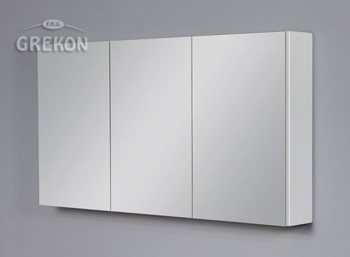 Szafka łazienkowa Z Lustrem Biała 121x65cm Meiva