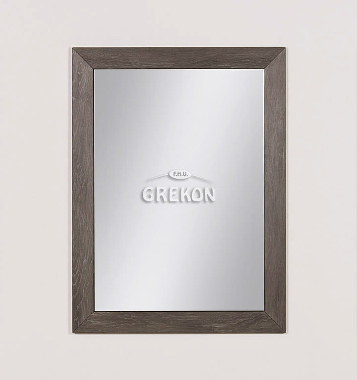Lustro łazienkowe Szare 60x80cm Grace