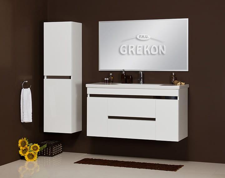 Szafka łazienkowa Biała 120cm Sensi Z Umywalką