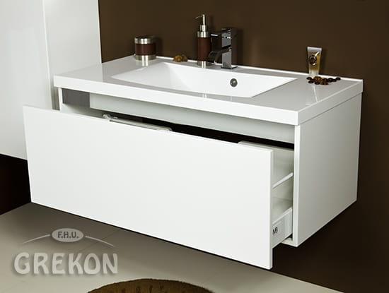 Diamond Białe Diamond Meble łazienkowe Szafka Dmd B U10048