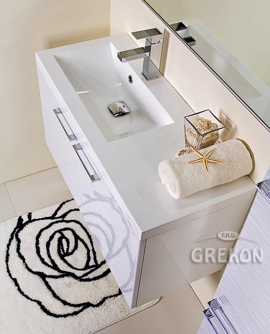 Białe Umywalki Umywalka Dolomitowa Clever 900l Biała Grekonpl