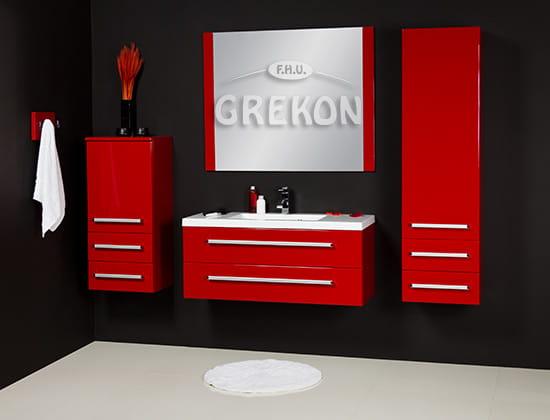 Lustro łazienkowe Czerwone 100x80cm Fokus